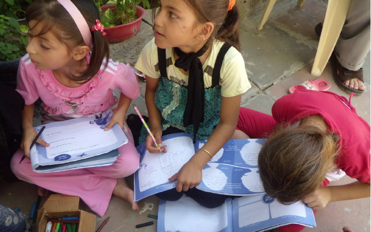 gaza-workbook-report-image-school-girls